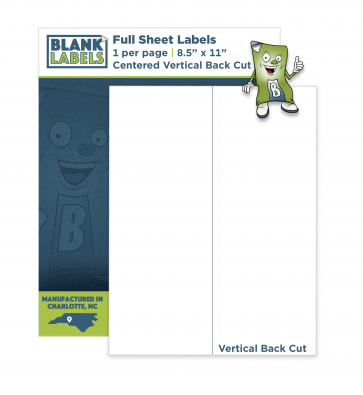 BL001 - Full Sheet with Single Vertical Back Cut