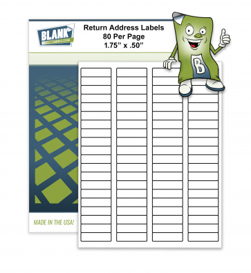 "80 Labels per Page - 1.75"" x .50"" - Avery 5167 Size"