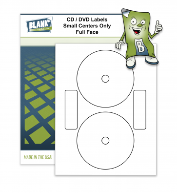 2 CD / DVD Labels per Page - Neato & Avery Small Center Full Face