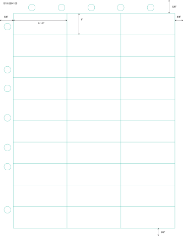LaserBand® PLS-103 Second Sheet 30 per Page