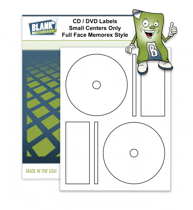 2 CD / DVD Labels Per Page