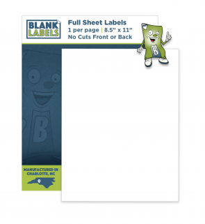 BL000 - Full Sheet Labels - No Cuts