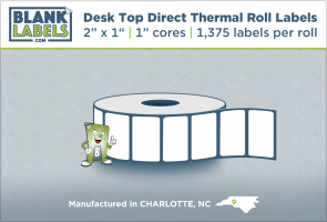 """2"""" x 1"""" Direct Thermal Labels for Zebra Printers"""
