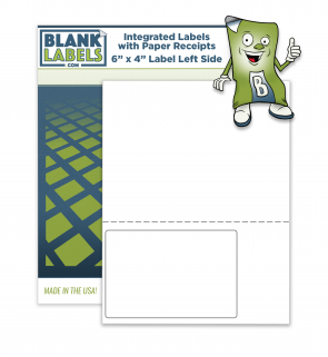 "Integrated Label Sheets 6"" x 4"" Label Left Side"