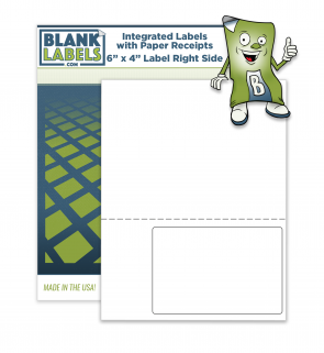"""Integrated Labels 6"""" x 4"""" Right Side"""