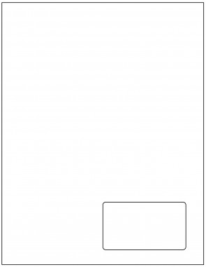 Blank Integrated 3.5 x 2 Right Side Label